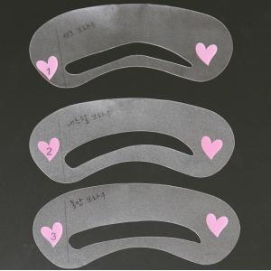 Трафареты для бровей, набор из 3 шт.