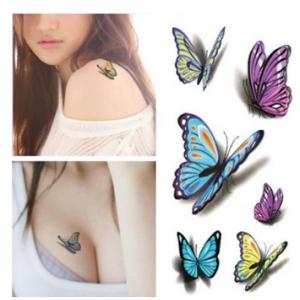3D тату Бабочки