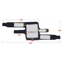 Накoленник турмaлиновый с четырьмя лечебными зонами + магнитные вставки 2 шт